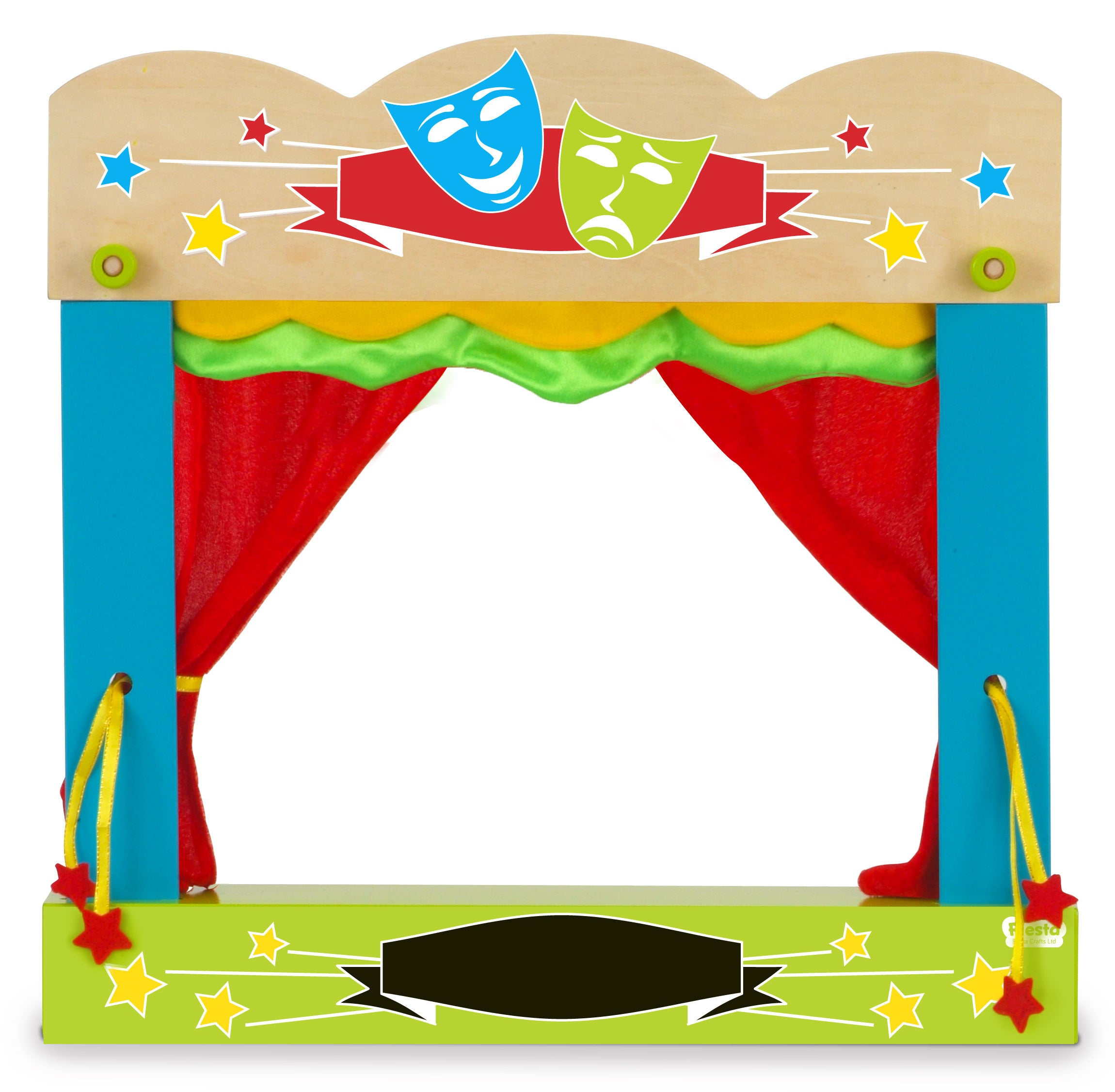 Puppet theatre assembled out of carry case