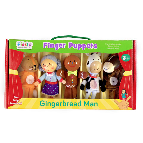 Gingerbread puppets in packaging