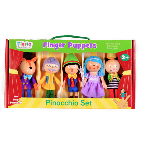 Pinocchio Finger Puppet Set, boxed