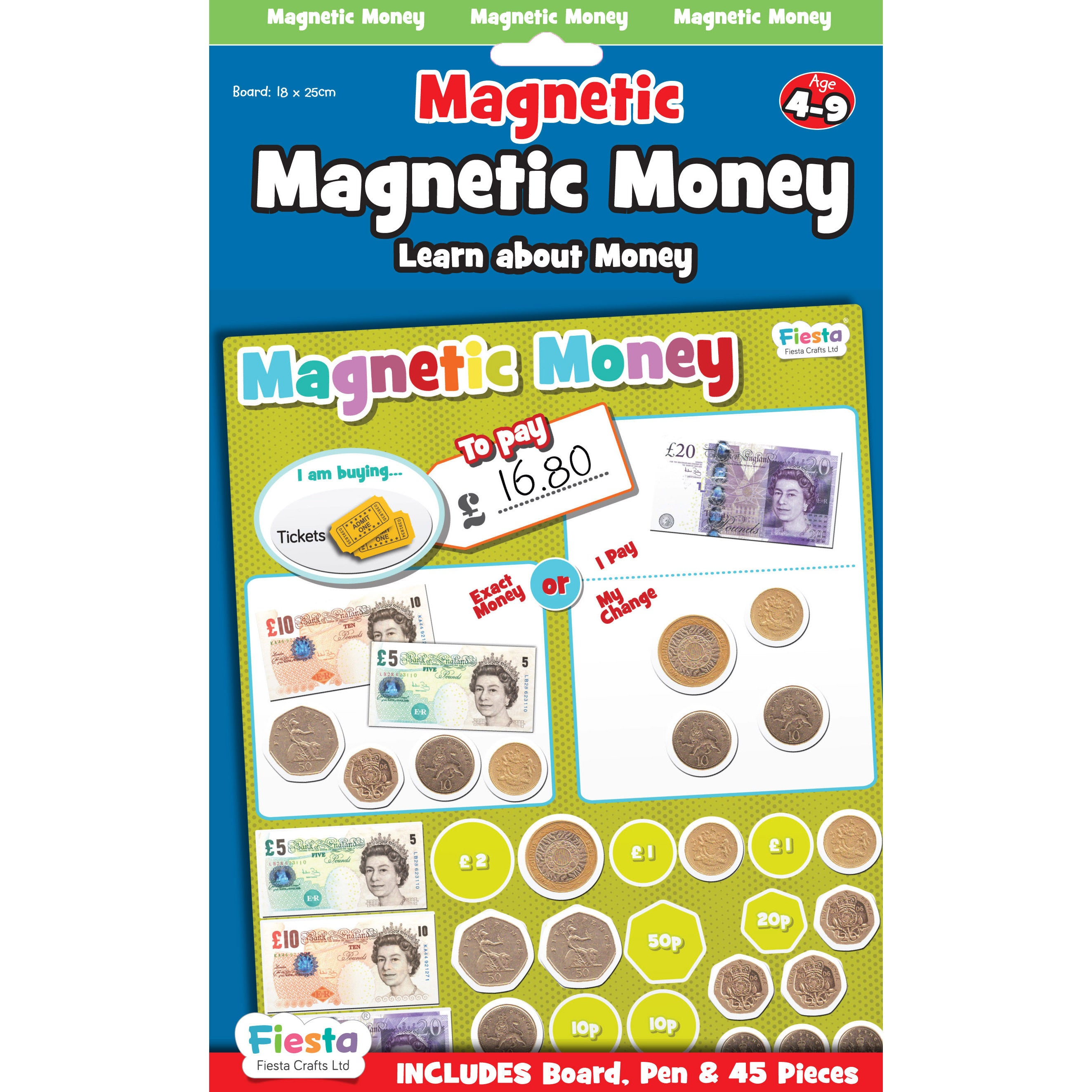 Magnetic Money Board, packaged