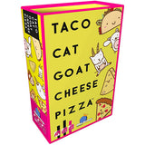 Taco Cat Goat Cheese Pizza - Card Game, angled box
