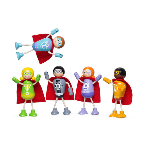Superhero Set, 5 characters unboxed