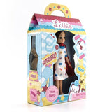 True Hero Lottie Doll (Hospital Stay), side angle of box
