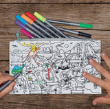 Doodle Pencil Case: Dinosaur Design, with pens 2