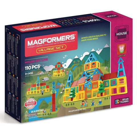 Magformers Village Set - 110 pieces, boxed