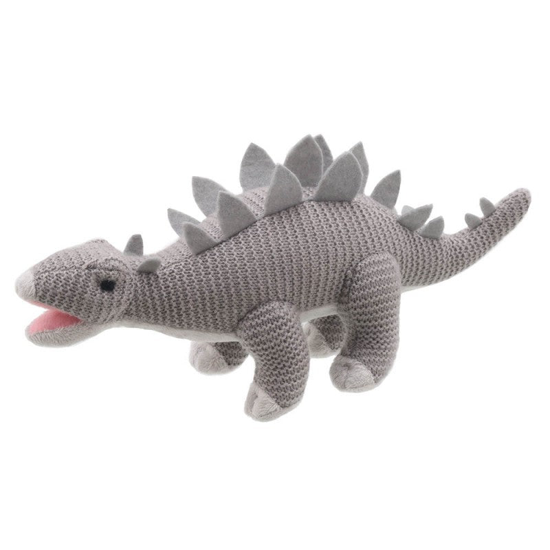 Stegosaurus Knitted Soft Toy -  side view
