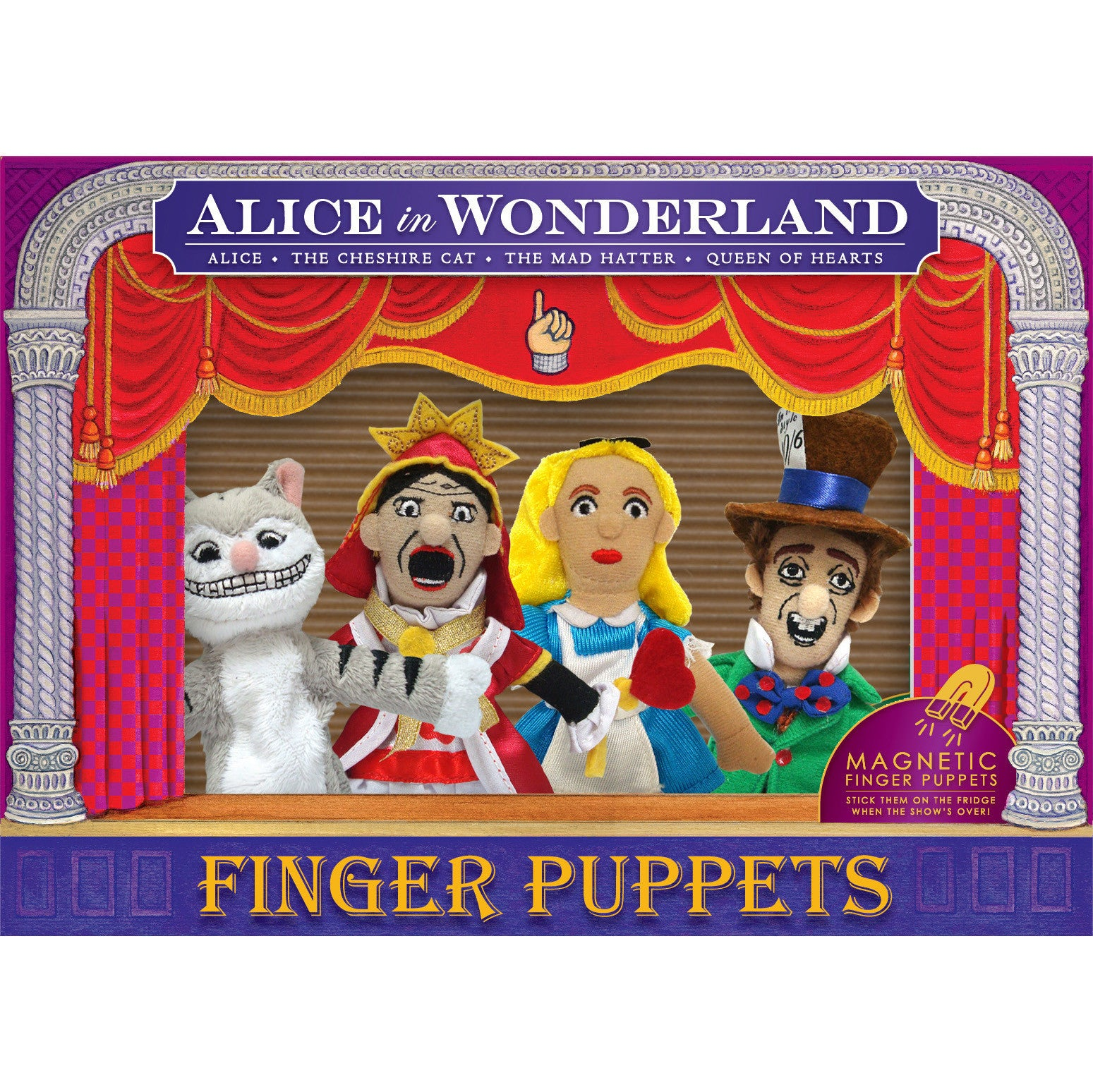 Alice in Wonderland - Magnetic Finger Puppet Set