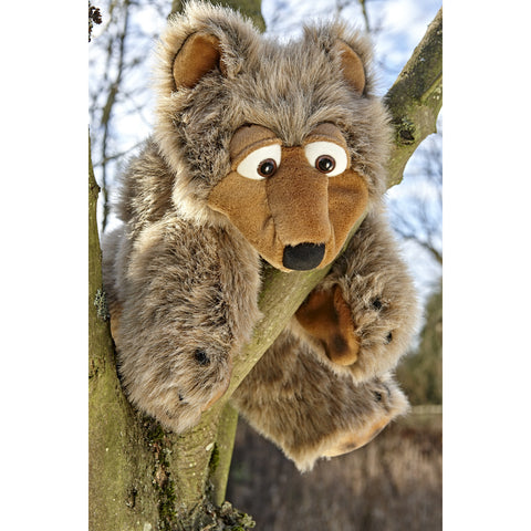 Balthasar the Bear Large Puppet in tree