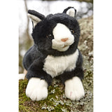 Black and White Cat Hand Puppet in tree
