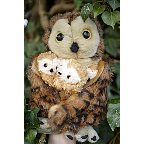 Hide-Away Puppets - Tawny Owl with 3 Babies