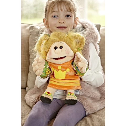 Small Jenny Living Puppet with sitting child