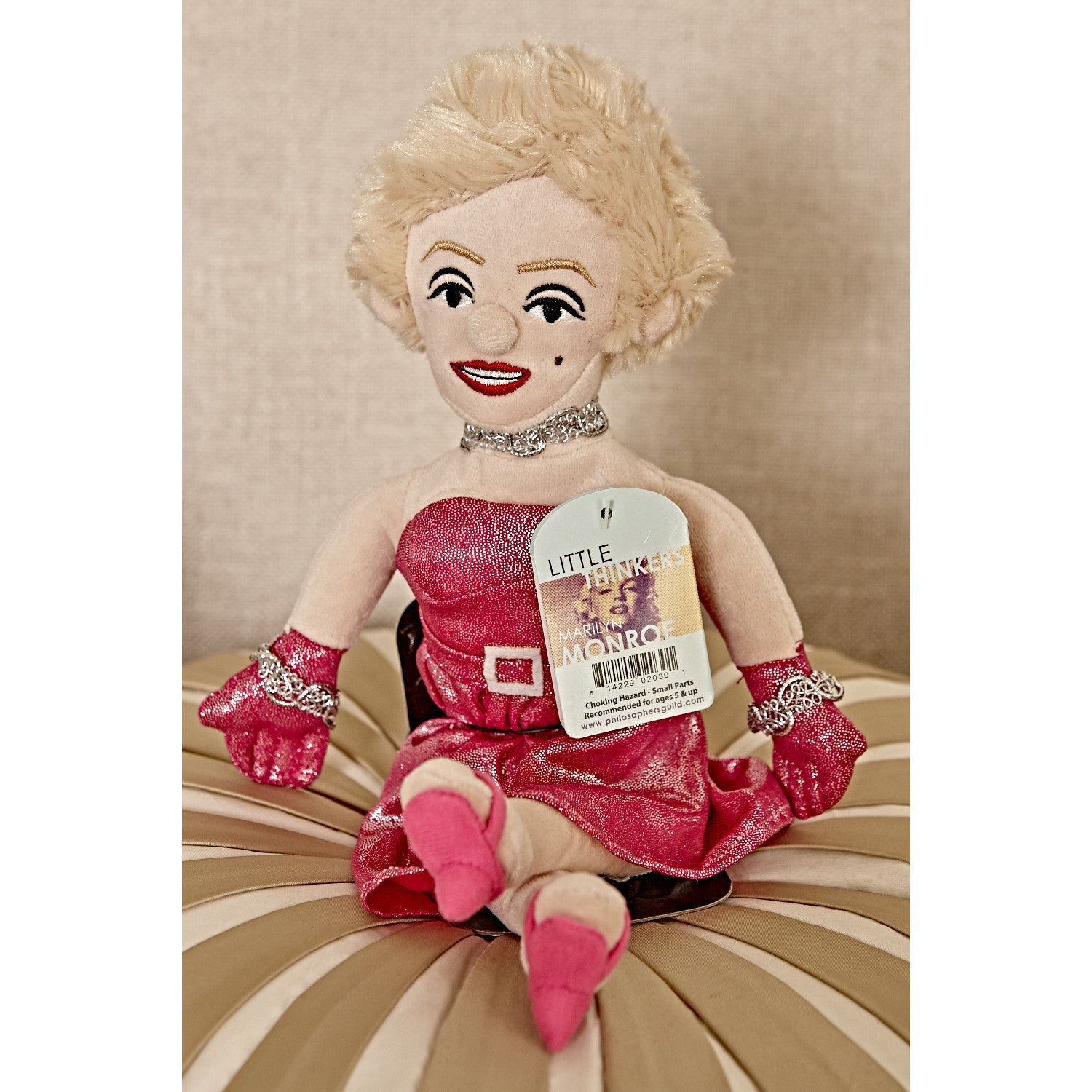 Marilyn Monroe - Little Thinker Doll on cushion