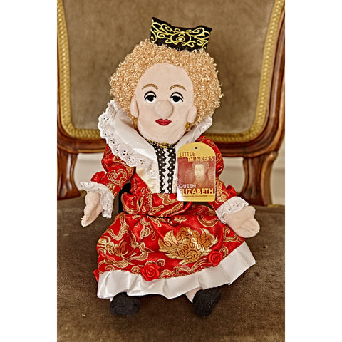 Queen Elizabeth- Little Thinker Doll on a chair