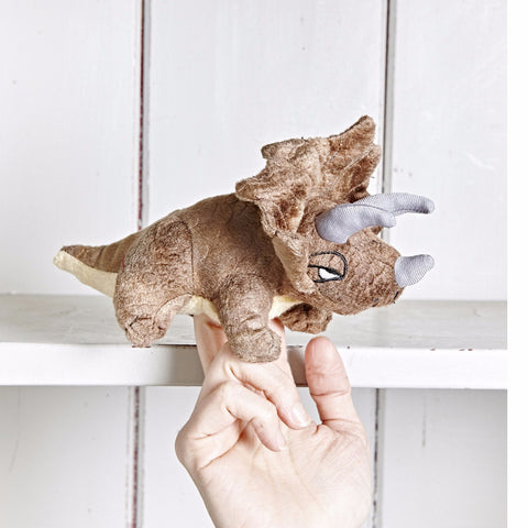Triceratops Finger Puppet on hand