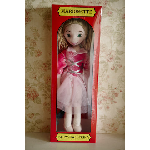 Marionette Characters- Fairy Ballerina in box with wallpaper behind