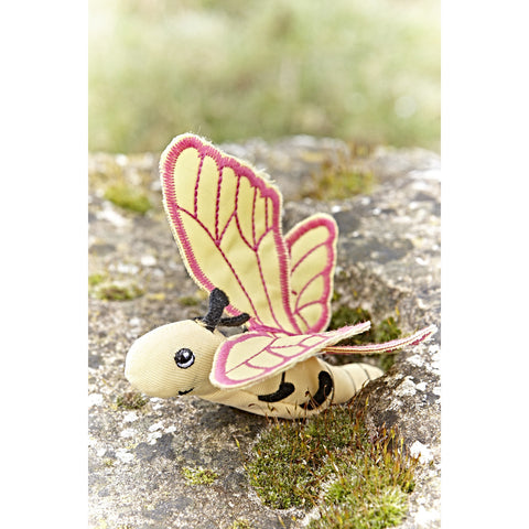 Butterfly Finger Puppet in garden