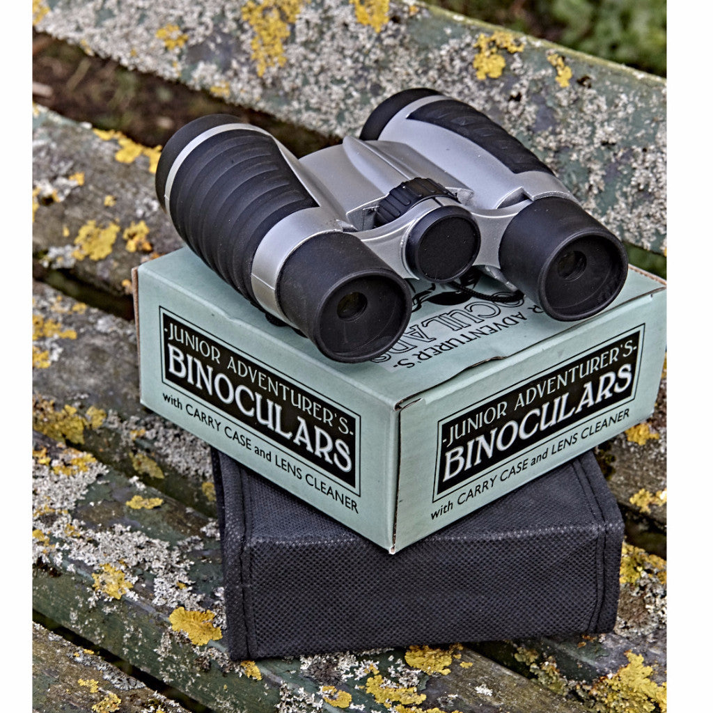 Binoculars on box