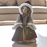 A Girl for All Time - Matilda's Burgundy Travel Cloak on doll