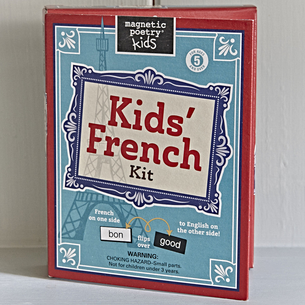 Kids' French kit magnetic poetry
