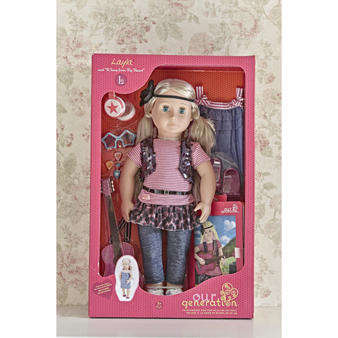 Layla with book - Our Generation Doll boxed