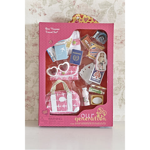 Bon Voyage Travel Set - Our Generation Accessory, boxed