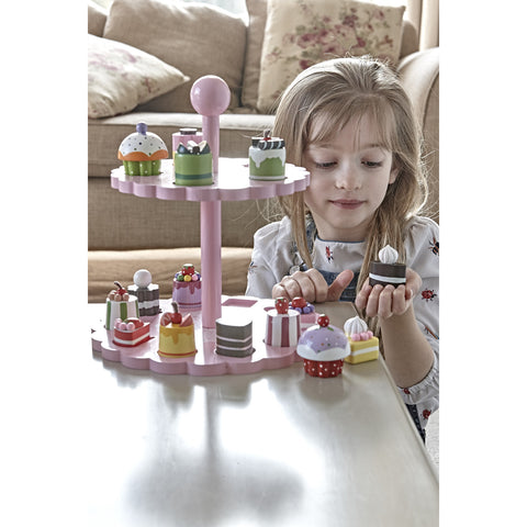 High Tea Shape Matching - Cakes and Stand with girl