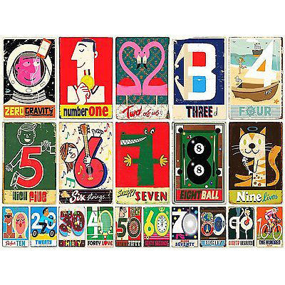 Numbers Jigsaw Puzzle - Paul Thurlby out of the box