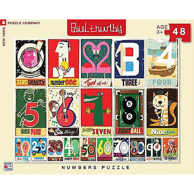 Numbers Jigsaw Puzzle - Paul Thurlby, Front cover of the box