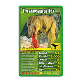 Dinosaurs -Top Trumps Game, sample card T Rex