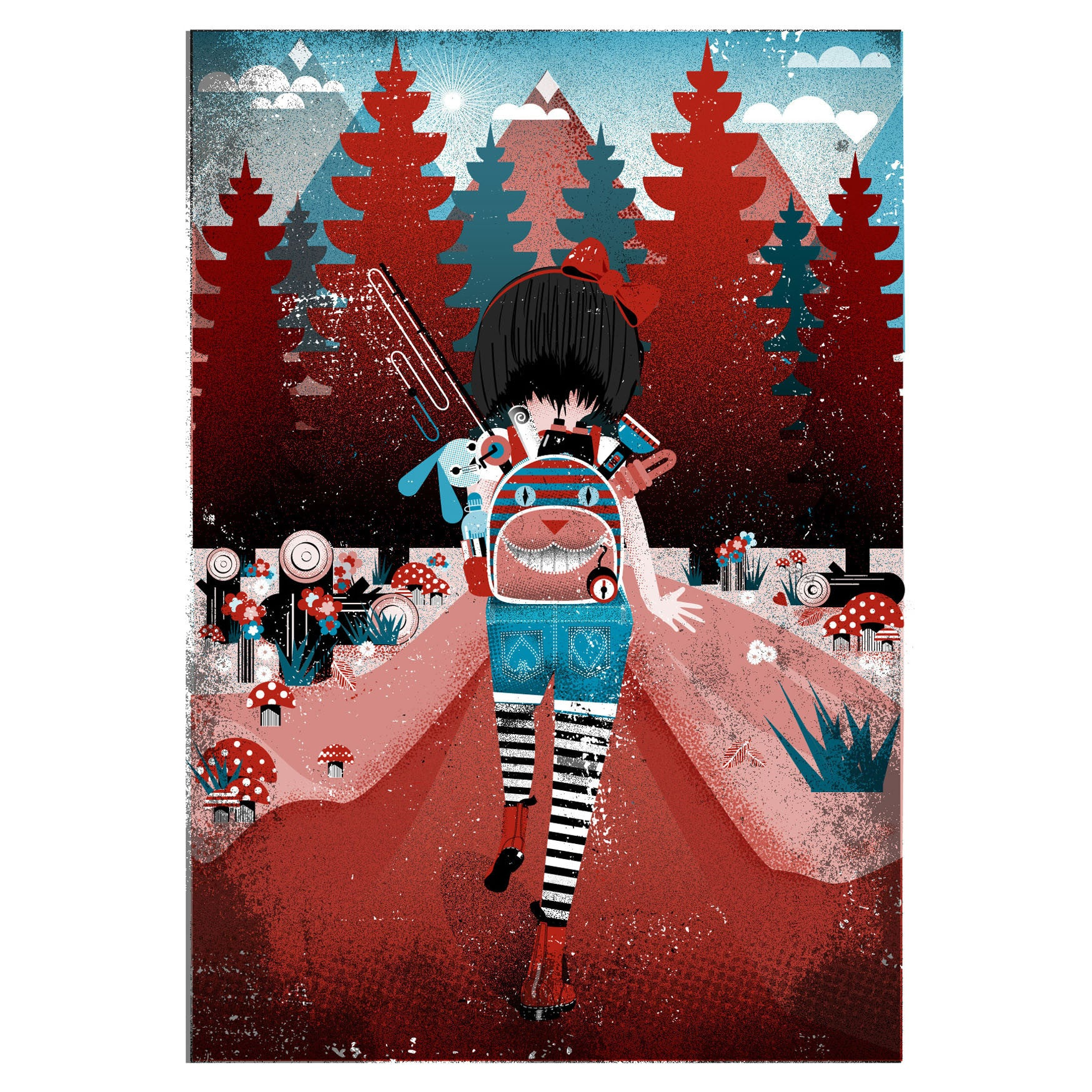 Greeting Card - Alice In Wildland