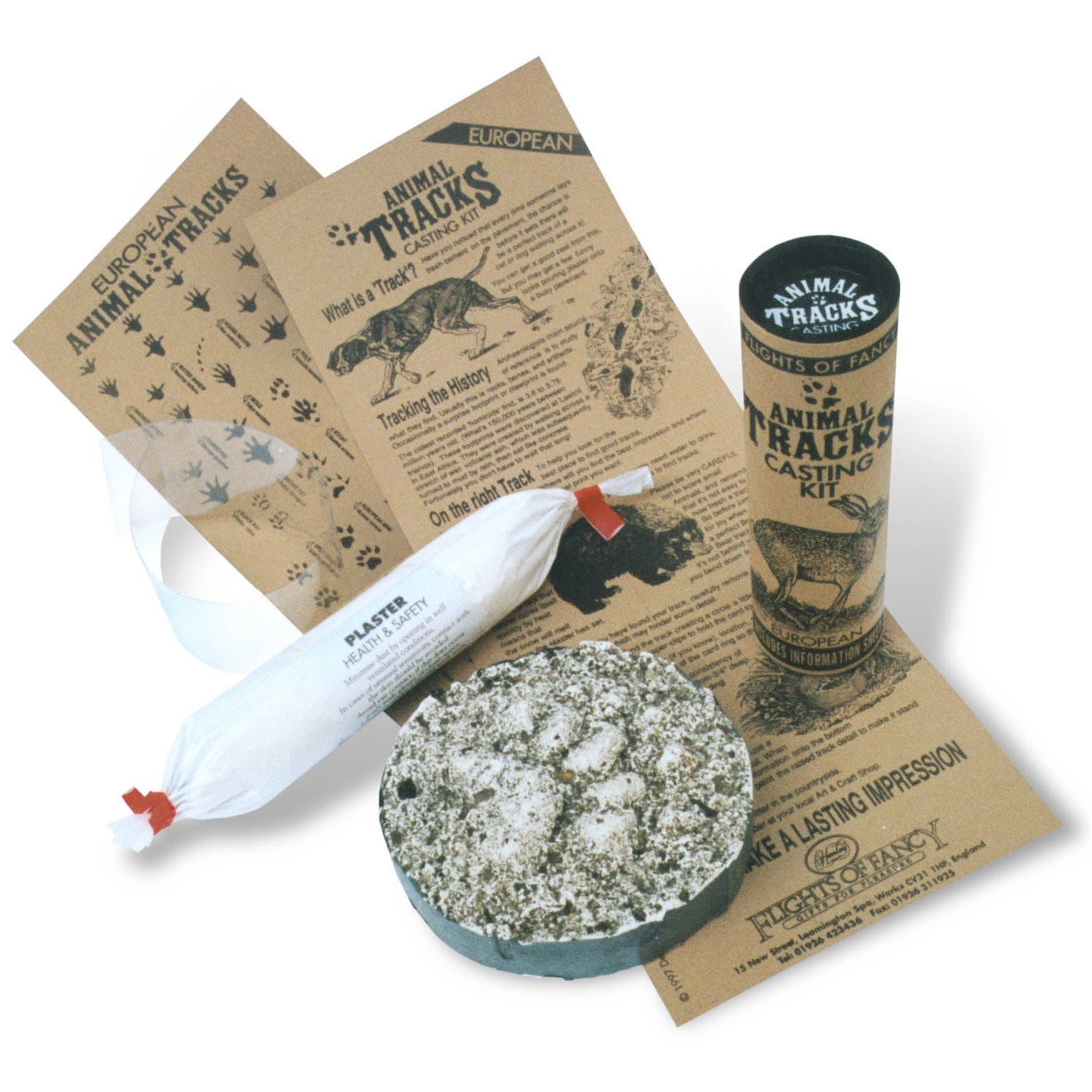 Animal Tracks Casting Kit Out Of Tube Contents