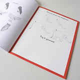 Animalium Activity Book, how to draw elephant page
