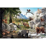 Animals of the Forest Puzzle, finished scene