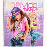 Top Model Dance Colouring Book, front cover