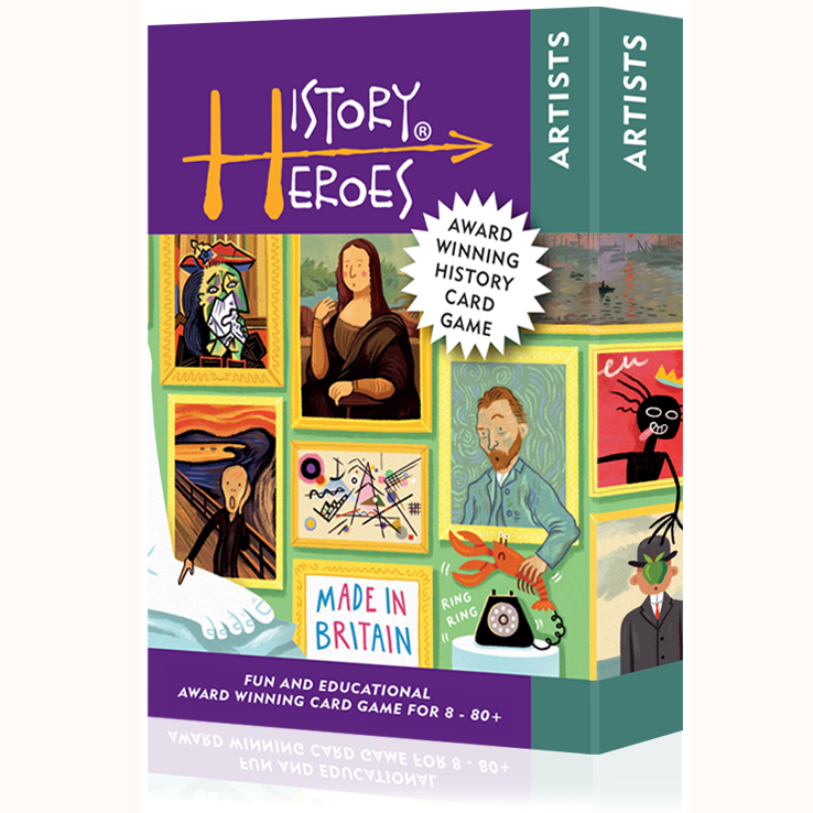 History Heroes - Artists, front of box angled