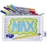 Doodle Pencil Case, Max design + pens
