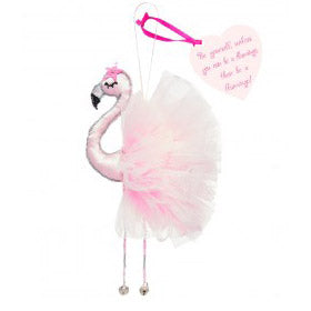Fairtrade Flamingo hanging charm (baby pink)