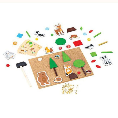 Deluxe pin-a-shape woodland, unboxed