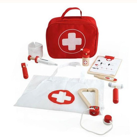Doctor's Play Kit, contents and bag