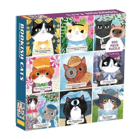 Bookish Cats Puzzle - 500 pieces, boxed