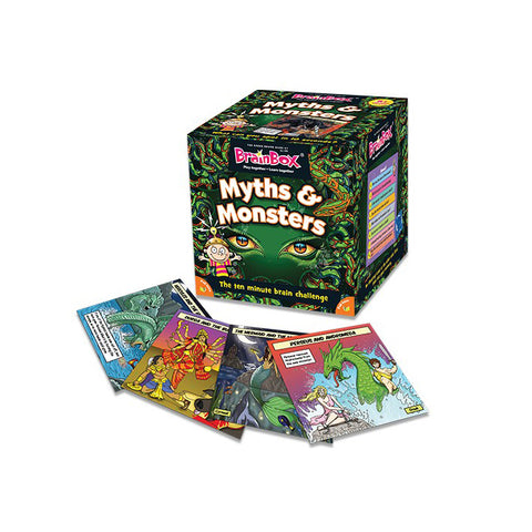 myths and monsters brainbox with sample cards displayed