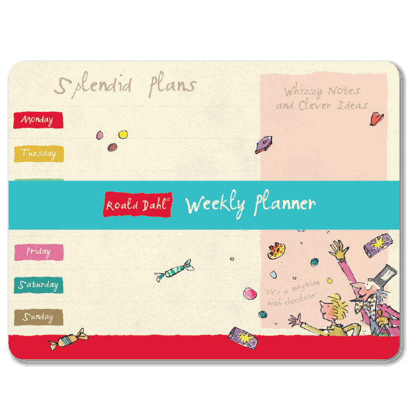 Roald Dahl Weekly Planner, front cover