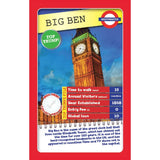 London 30 Things To See - Top Trumps, sample card Big Ben