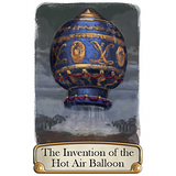 Timeline - Inventions Card Game, hot air balloon card