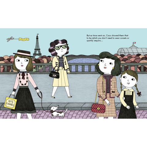 Coco Chanel - Little People, Big Dreams Picture Book, inside spread