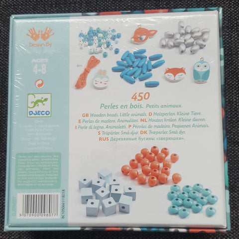 Little animals beads by Djeco back of box