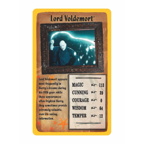 Harry Potter and the Order of the Phoenix - Top Trumps Game, Voldemort's card