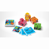Cubeez, unboxed, cards and blocks
