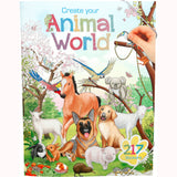 Create Your Own Animal World Sticker book, front cover