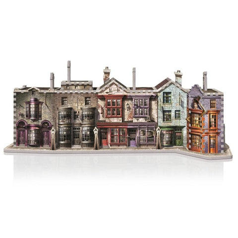 Diagon Alley 3D Puzzle, finished alley front on.